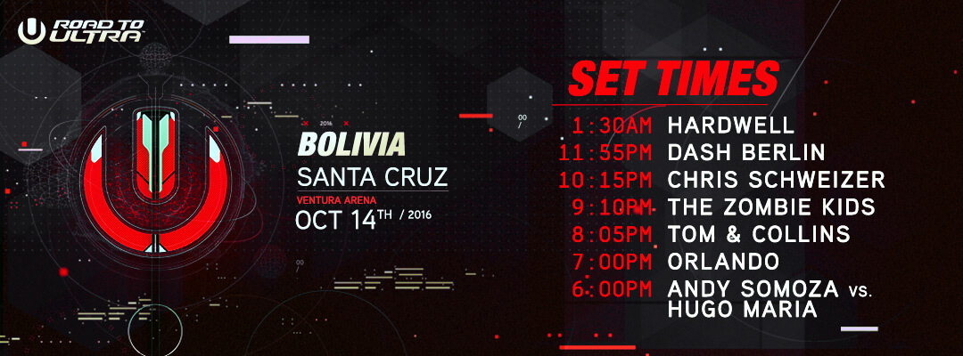 Road to Ultra Bolivia 2016 Set Times